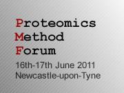 Proteomics Method Forum