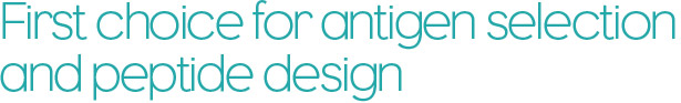 First choice for antigen selection and peptide design