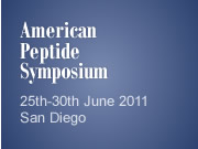 American Peptide Symposium 25th-30th June 2011 San Diego